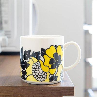 Finlayson(フィンレイソン) アンヌッカデザイン マグカップ 350ml レトロな花柄のお洒落なマグ