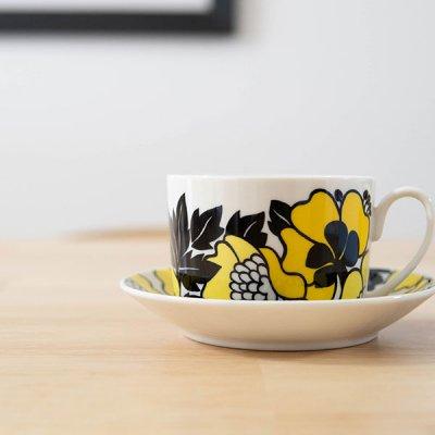 Finlayson(フィンレイソン) アンヌッカデザイン カップ&ソーサー 240ml カップとソーサーがセットになったレトロな花柄のお洒落で可愛い