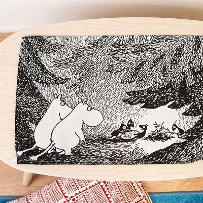 MOOMIN(ムーミン) 森のなかで ゴブラン織り ランチョンマット ゴブラン織りで高級感のあるランチマット