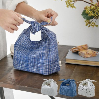 Bowknot ランチバッグ 中綿入りお弁当袋 お弁当袋 あづま袋 お弁当 包み 布 ランチポーチ