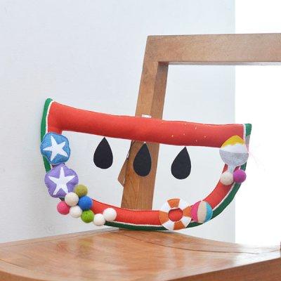 M hario マーケット スイカモチーフのリース お部屋の飾り付けにワクワクするアイテム