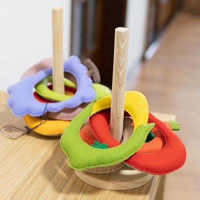 M hario マーケット フェルト素材の輪投げ 親子で楽しめる玩具