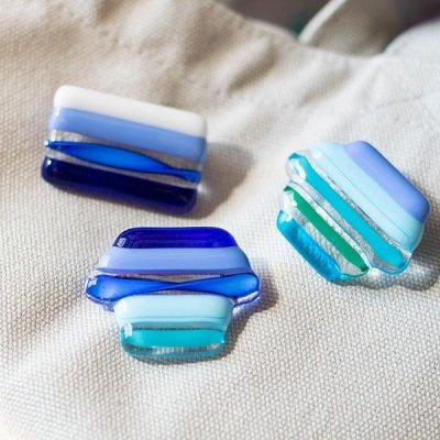 Studio Al Sole ベネチアンガラスブローチ 透明感のある綺麗で上品なブローチ