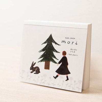 cozyca products(コジカプロダクツ) 西淑 美濃和紙入りブロックメモ ちょっとしたお手紙に可愛い柄のメモ帳