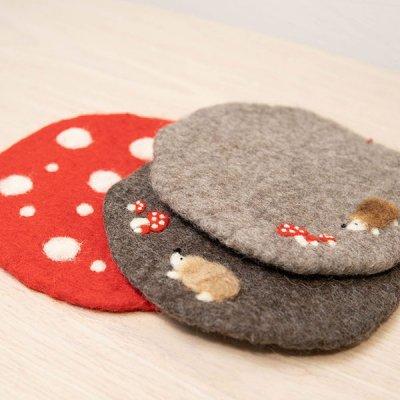 Rocca 羊毛フェルトポットマット 鍋敷きにもなる可愛いマット