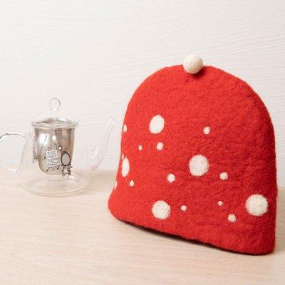 Rocca 羊毛フェルトティーコージー 帽子みたいで可愛いティーポットカバー