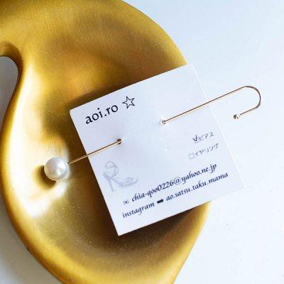 aoi.ro イヤーカフピアス 片耳用のシンプルな大人っぽいイヤーカフ