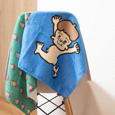uRiiiy 綿100%素材のウォッシュタオル 可愛いデザインのハンドタオル