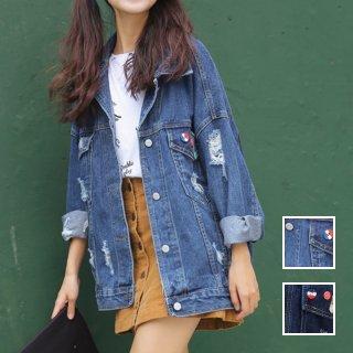 韓国 ファッション アウター ジャケット 春 夏 カジュアル PTX4625  ミディアム 長袖 襟付き Gジャン 無地 ・ブルゾン オルチャン シンプル 定番 セレカジ