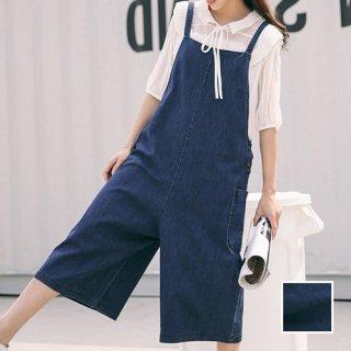 韓国 ファッション オールインワン オーバーオール 春 夏 秋 カジュアル PTX5228  ガーリー かわいい ワイドパンツ ロング オルチャン シンプル 定番 セレカジ