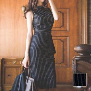 韓国 ファッション ワンピース パーティードレス ひざ丈 ミディアム 春 夏 秋 パーティー ブライダル PTX5497 結婚式 お呼ばれ オフィスコーデ 大人 バックスリッ 二次会 セレブ きれいめ