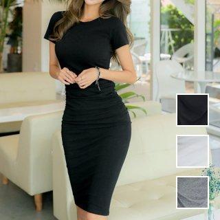 韓国 ファッション ワンピース 春 夏 カジュアル PTXA748  リゾートワンピース ハワイ Tシャツ Tワンピ カットソー スポーティー ストリート オルチャン シンプル 定番 セレカジ