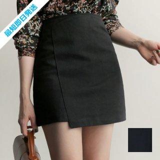 【即納】韓国 ファッション スカート ミニ ボトムス 夏 春 秋 カジュアル SPTX5266  アンバランス かわいい ガーリー ショート オルチャン シンプル 定番 セレカジ