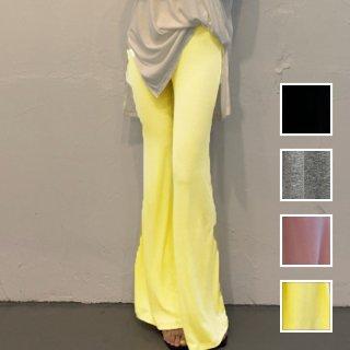 韓国 ファッション パンツ ボトムス 春 夏 カジュアル PTXI187  フレアパンツ リラクシー ウエストゴム 楽ちん オルチャン シンプル 定番 セレカジ