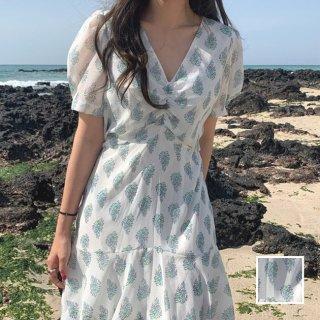 韓国 ファッション ワンピース 夏 春 カジュアル PTXI476  シアー シフォン 胸元ギャザー ミニ Aライン オルチャン シンプル 定番 セレカジ