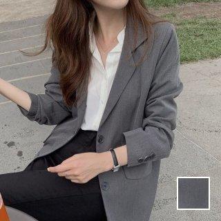 韓国 ファッション アウター ジャケット 春 秋 冬 カジュアル PTXI921  シンプル メンズライク シングルボタン オルチャン シンプル 定番 セレカジ
