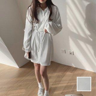 韓国 ファッション ワンピース 春 夏 秋 カジュアル PTXJ741  シアー オーバーサイズ サマーガウン オルチャン シンプル 定番 セレカジ