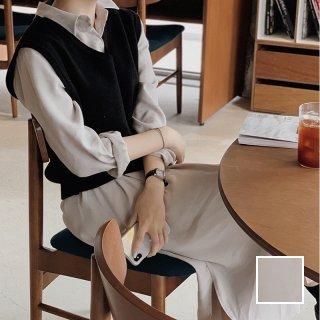 韓国 ファッション セットアップ 春 夏 秋 カジュアル PTXJ760  オーバーサイズ シャツワンピ ベスト ゆったり オルチャン シンプル 定番 セレカジ