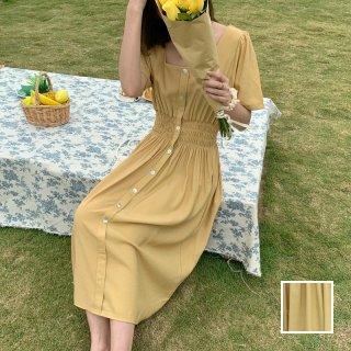 韓国 ファッション ワンピース 春 夏 カジュアル PTXJ810   オルチャン シンプル 定番 セレカジ