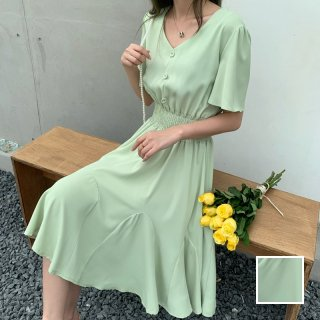 韓国 ファッション ワンピース 春 夏 カジュアル PTXJ811   オルチャン シンプル 定番 セレカジ