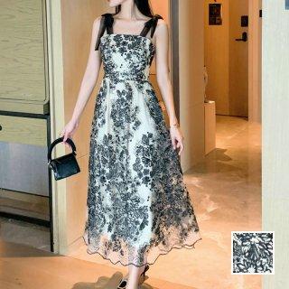 韓国 ファッション ワンピース パーティードレス ロング マキシ 春 夏 パーティー ブライダル PTXK113 結婚式 お呼ばれ シアー モノトーン チューブトップ シック 二次会 セレブ きれいめ