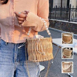 韓国 ファッション かごバッグ 春 夏 カジュアル PTXK198  かごバッグ チェーン ミニバッグ ハンドバッグ オルチャン シンプル 定番 セレカジ
