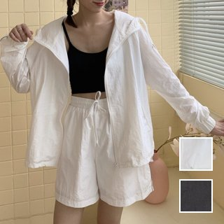 韓国 ファッション アウター ブルゾン 春 夏 カジュアル PTXK419  シアー ライン パーカー オーバーサイズ オルチャン シンプル 定番 セレカジ