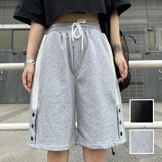 韓国 ファッション パンツ ショート ボトムス 春 夏 カジュアル PTXK399  ハーフ ジョガーパンツ ストリート ラウンジ オルチャン シンプル 定番 セレカジ