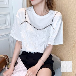 韓国 ファッション トップス Tシャツ カットソー 春 夏 カジュアル PTXK806  フェイクレイヤード プルオーバー キャミソール オルチャン シンプル 定番 セレカジ