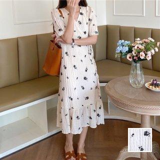 韓国 ファッション ワンピース 春 夏 カジュアル PTXK928  シワ加工 ラップ風 カシュクール ゆったり オルチャン シンプル 定番 セレカジ