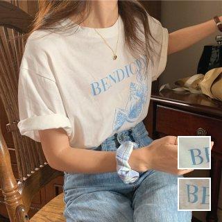 韓国 ファッション トップス Tシャツ カットソー 春 夏 カジュアル PTXK944  オーバーサイズ フルーツ ロゴ エレガント オルチャン シンプル 定番 セレカジ