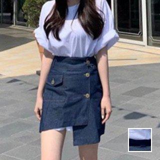 韓国 ファッション セットアップ 春 夏 カジュアル PTXK977  オーバーサイズ Tワンピ アシンメトリー タイト オルチャン シンプル 定番 セレカジ