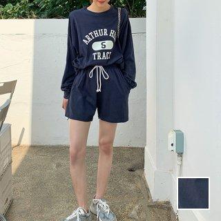 韓国 ファッション セットアップ 春 夏 秋 カジュアル PTXL402  オーバーサイズ スウェット ジョガーパンツ オルチャン シンプル 定番 セレカジ