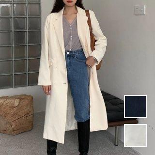 韓国 ファッション アウター コート 春 秋 冬 カジュアル PTXL498  ベーシック 着回し チェスター トレンチ ロング オルチャン シンプル 定番 セレカジ