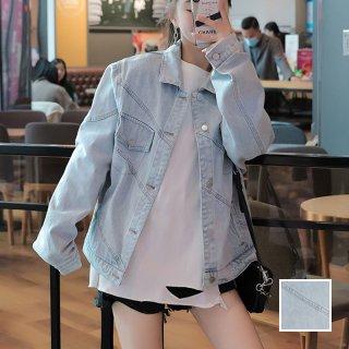 韓国 ファッション アウター ブルゾン 春 秋 冬 カジュアル PTXL535  アシンメトリー バイアス オーバーサイズ オルチャン シンプル 定番 セレカジ
