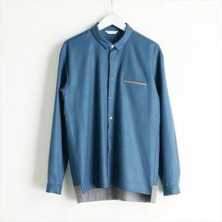 souwa<br />バイカラーボックスシャツ<br />#Blue × Gley