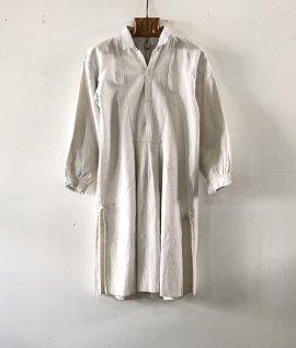 French vintage linen smock