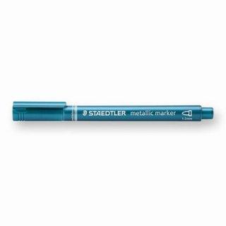 【STAEDTLER(ステッドラー)】メタリックマーカーペン  メタリックブルー