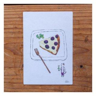 【手紙舎】茂苅恵 ポストカード プルーンチーズケーキ焼けました