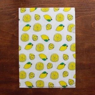 【手紙舎】イザベル・ボワノ A5クリアファイル「レモン」【ラスト1個】
