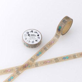【Maruman】マルマン100th×マスキングテープ (B クロッキーブック柄)