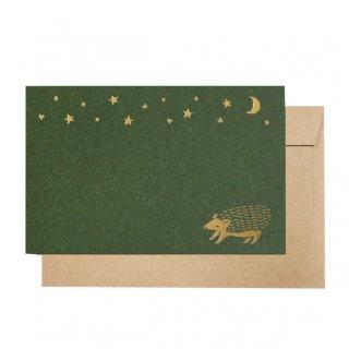 【Green Flash】真夜中の雑貨店 ミニカードセット ハリネズミ