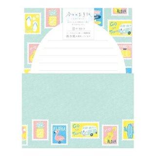 【古川紙工】今日のお手紙レターセット(切手)