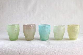 泡ラサグラス / 5色 - 吹きガラス工房 一星 -