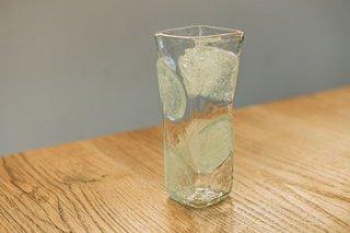 泡水玉 / 角 / 花器 - 吹きガラス工房 一星 -