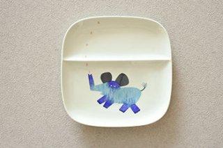 お子様用 仕切り皿 / 動物柄 7種 /  - 陶房 青 -