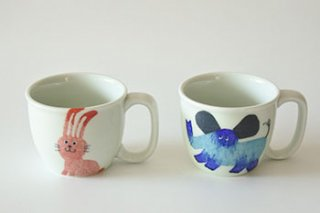 お子様用 / マグカップ / 動物柄2種 /  - 陶房 青 -