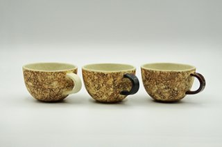 コルク スープカップ / 白・黒・茶 - 中川 雅佳 -