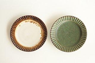 5.5寸リム皿 / しのぎ 2種  - 宮川 裕美子 -