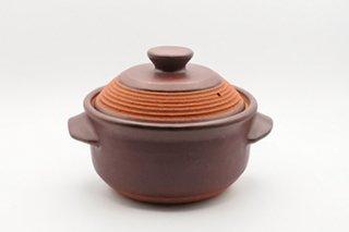 オールマイティご飯用土鍋 取っ手付き / 3-4合用(茶)  - 廣川 純 -